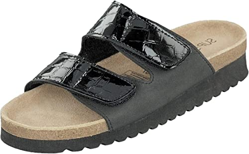 Supersoft Pantoletten Damen Schuhe 275 106 Schwarz Lack