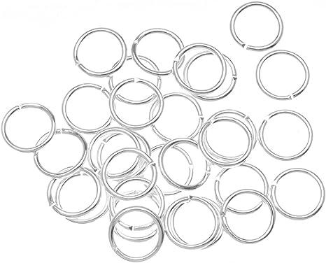 18-Gauge BeadaholiqueCA FJR-5159 50-Piece Open Jump Rings 5mm Silver