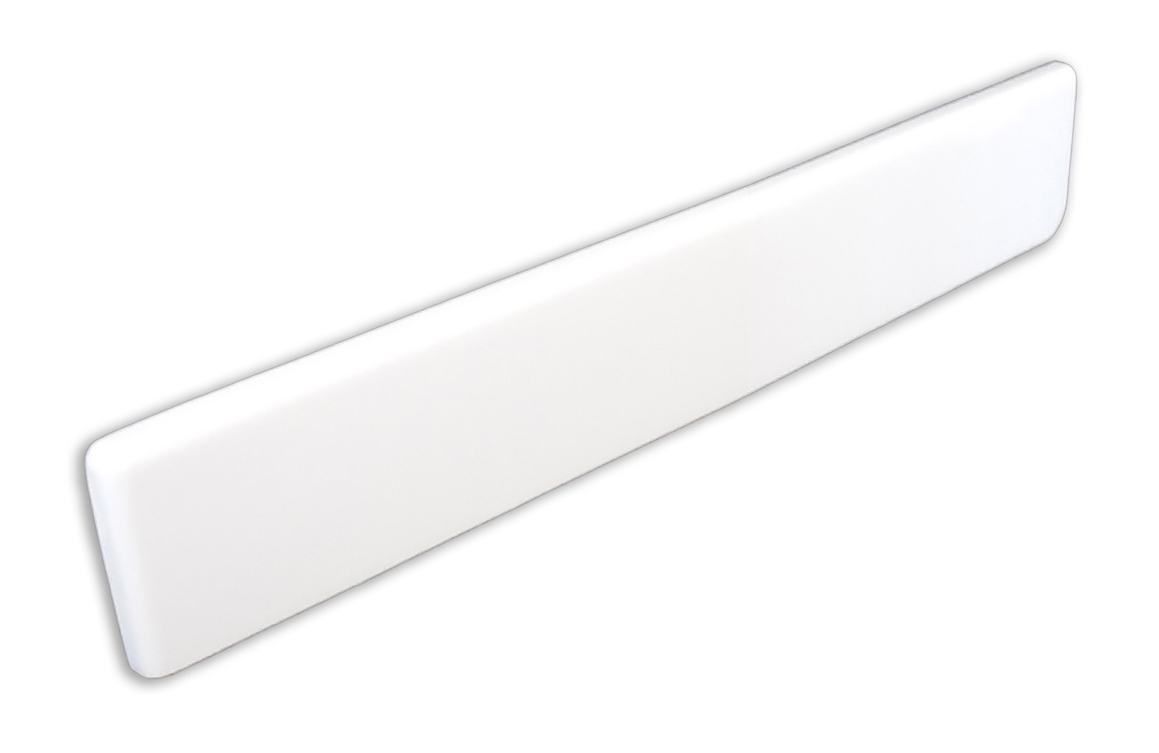 Imperial VL101SPW Left Hand Side Splash for Bathroom Vanity Top, Solid White Gloss Finish, 19-Inch by Imperial Marble (Image #1)