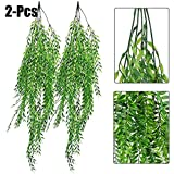 Dark Red Rose - 2pcs Artificial Hanging Plant Simulated Weeping Willow Fake Plants Short And Long Pattern - Outdoors Trees Decorative Bathroom Spring Exterior Minimalist Rose Desktop Cherry