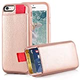 iPhone 6/6S Wallet Case, iphone 6S Card Holder Case, LAMEEKU iphone 6 Leather Case with Credit Card Holder Slot & ID Card Pockets Protective Cover for Apple iphone 6/6S 4.7 inch Rose Gold