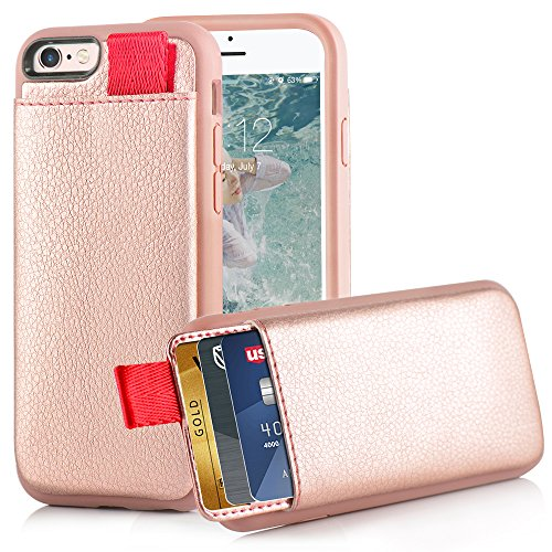 iPhone LAMEEKU Leather Pockets Protective