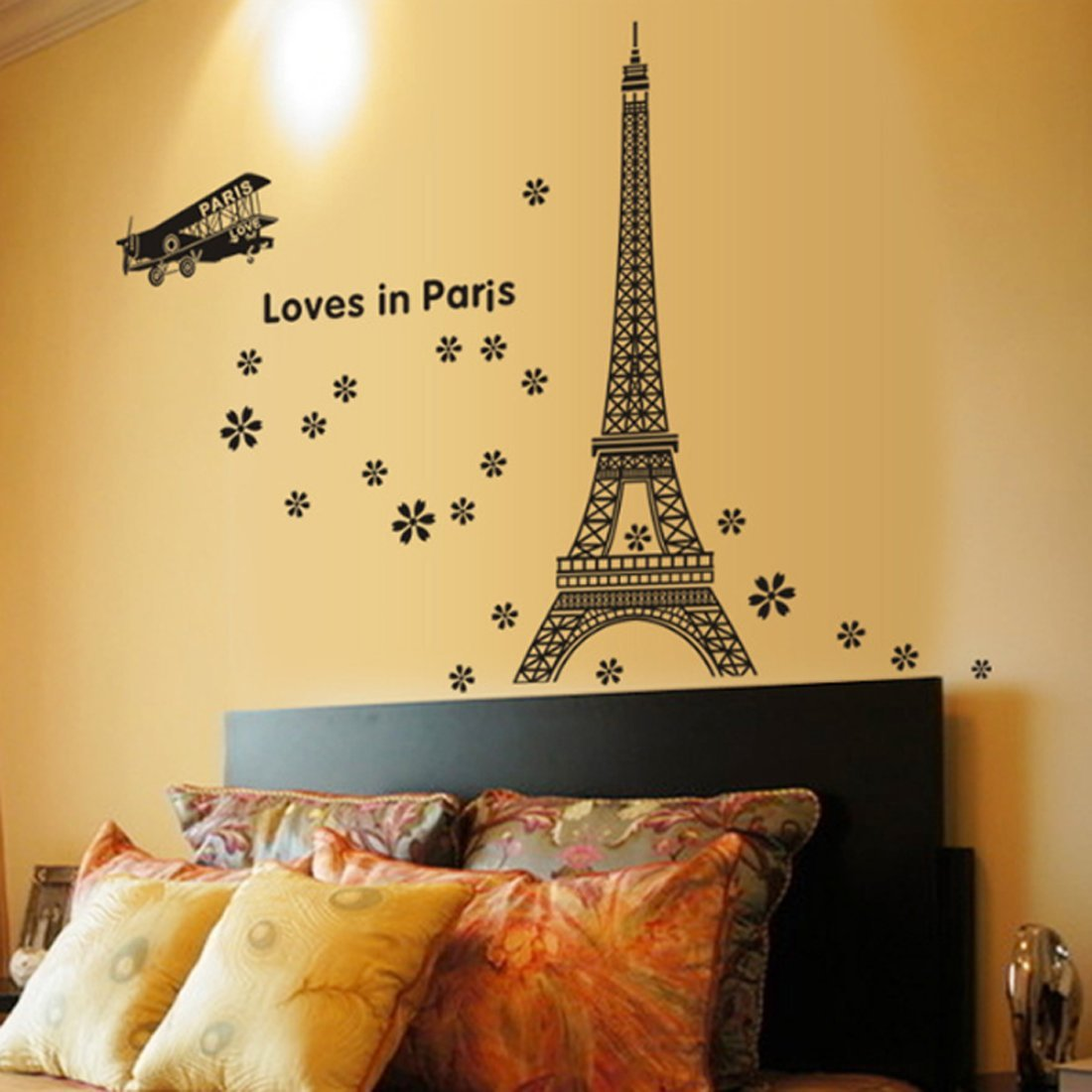 Amazon.com: fashionbeautybuy Wall Sticker English Letters Eiffel ...