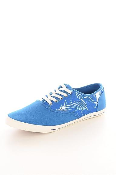 Jack & Jones - JJ Spider Canvas Palm Print - Sneaker - versch. Farben (44, Imperial Blue (Blau))