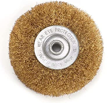 125mm Crimped Stainless Steel Wire Wheel Brush For Bench Grinder Edge Blending