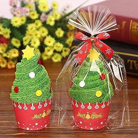 nikgic Regalos de Navidad toalla de regalo niño cara (de Navidad Papá Noel Muñeco de nieve Chritsmas árbol Catering toallas de té: Amazon.es: Hogar