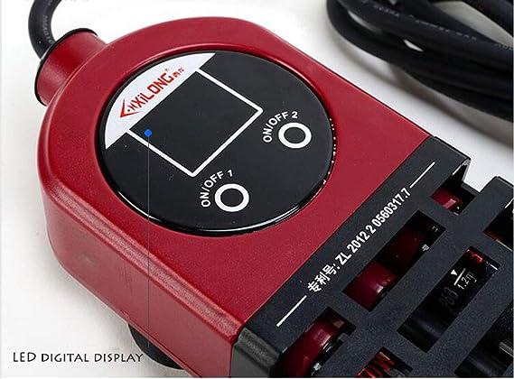 Termostato de tubo de titanio doble calefactor acuario de pantalla digital LED de 600 vatios con control remoto, controlador remoto de temperatura de ...
