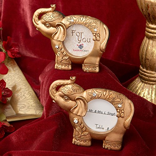 Good Luck Gold Indian Elephant Picture Frame (100)