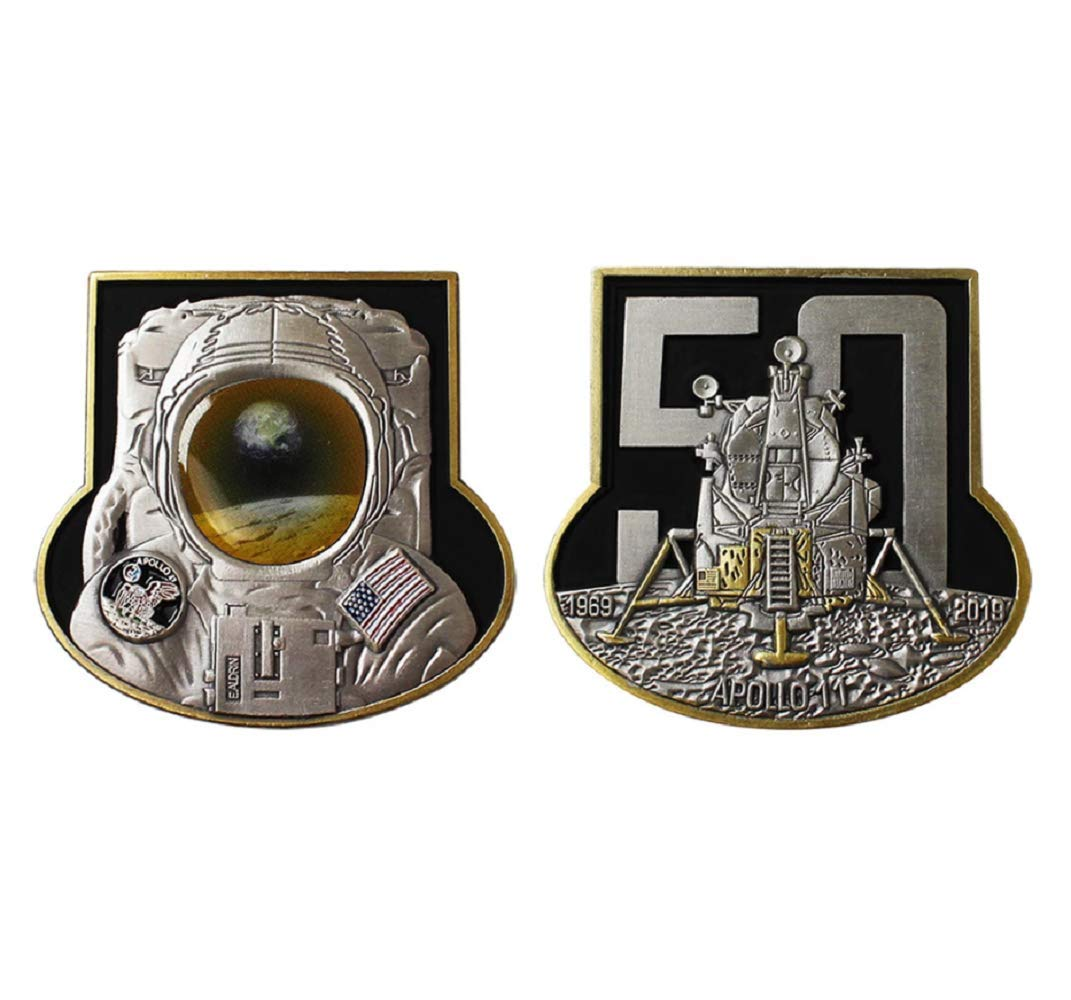 Vanguard Coin 2'': Navy Apollo 11 Mission 50th Anniversary Challenge Coin