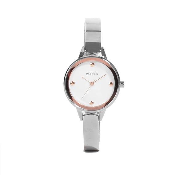 Parfois - Relojes Relojes Metal Plateado - Mujeres - Tallas M - Plateado: Amazon.es: Relojes