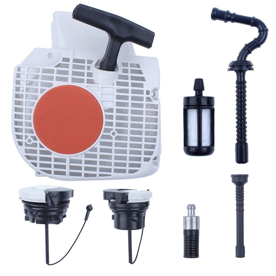 Haishine Juego de filtros de la l/ínea de la Manguera de la Tapa del Tanque de Combustible del Motor de Arranque de Retroceso para STIHL MS210 MS230 MS250 MS 250 230 210 Repuestos de Motosierra