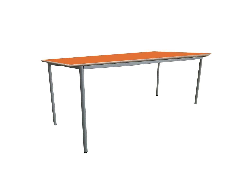 Mobeduc niños de la Mesa de Cuadrado Extensible, Madera, Naranja, tamaño 2, 140 x 60 x 53 cm