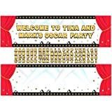 Amscan Elegant Hollywood Personalized Giant Party Sign Banner Decoration, 65'' x 20'', Pack of 88. Supplies (1056 Piece)