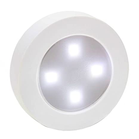 Wonderful Closet Light Super Bright Tap Light Battery Operated LED Push Puck Night  Light Touch Stick On