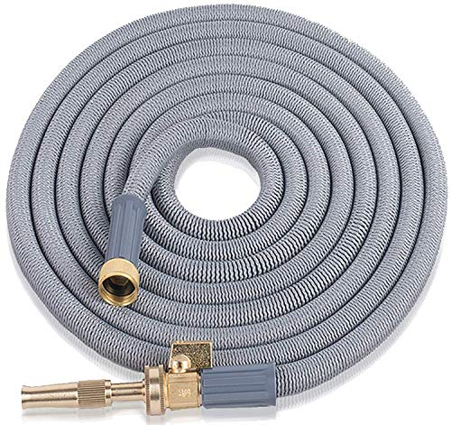 Expandable Garden Hose 50 Ft. Long | Heavy Duty Water Hose | Retractable Hose for Gardening Car Wash RV Motorhome Camper Accessories Flexible Kink Free Marine Hose | Portable Water Hose