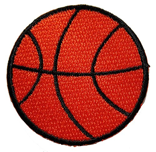 Basketball Ball Sports Logo Decorate Embroidered Iron on Patch Free Shipping