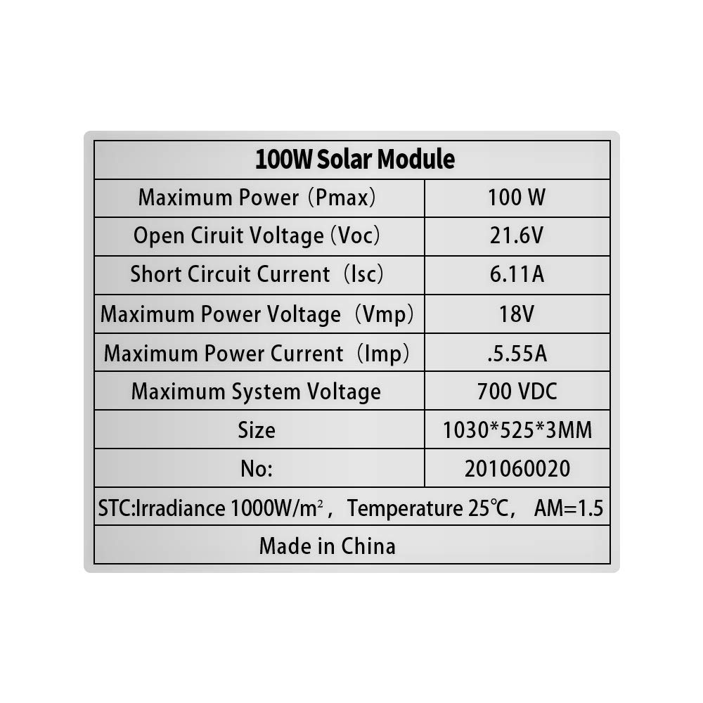 Black XINPUGUANG 100w 12v Flexible Solar Panel Monocrystalline Module for Boat Car Motorhome