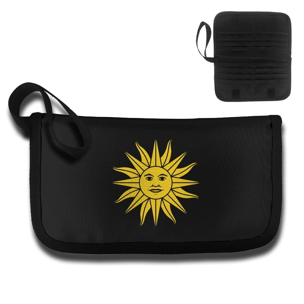 Sun Of Uruguay Flag Multi-function Travel Document Receipt And Receipt Bag Fashion Printing Card Package