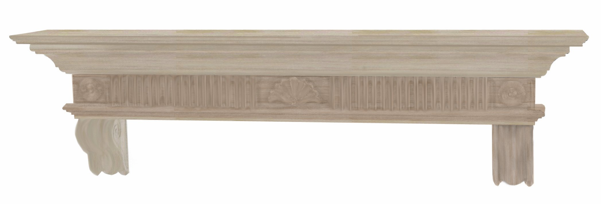 Pearl Mantels 416-60 Devonshire Fireplace Mantel Shelf, 60-Inch, Unfinished by Pearl Mantels