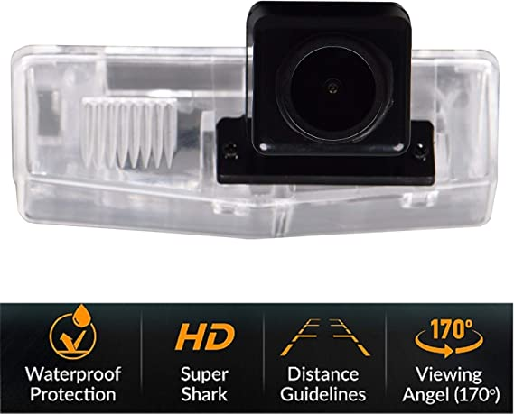 CT200H 2013-2015 HD 1280x720p Reversing Camera Integrated in Number Plate Light License Rear View Backup Camera Waterproof Night Vision for Toyota RAV4//Venza//Matrix//Prius