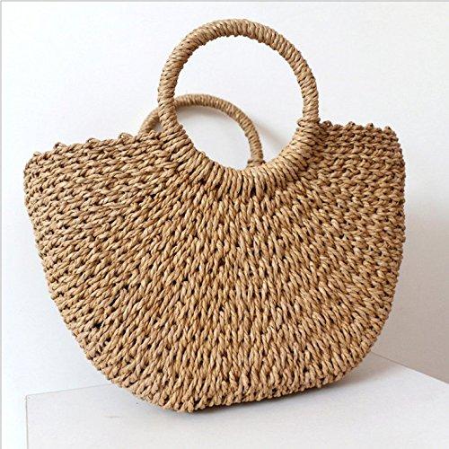 Handbag Straw Bag Rattan Woven Bags Wicker Basket Summer OneMoreT Totes Beach Women q1BTqwxY