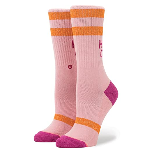 Stance Womens Heaps Cool Socks,Small,Pink