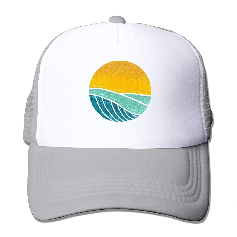 Vintage Sea Wave On Tides Mesh Mens Great Trucker Baseball Hat JTRVW Cowboy Hats