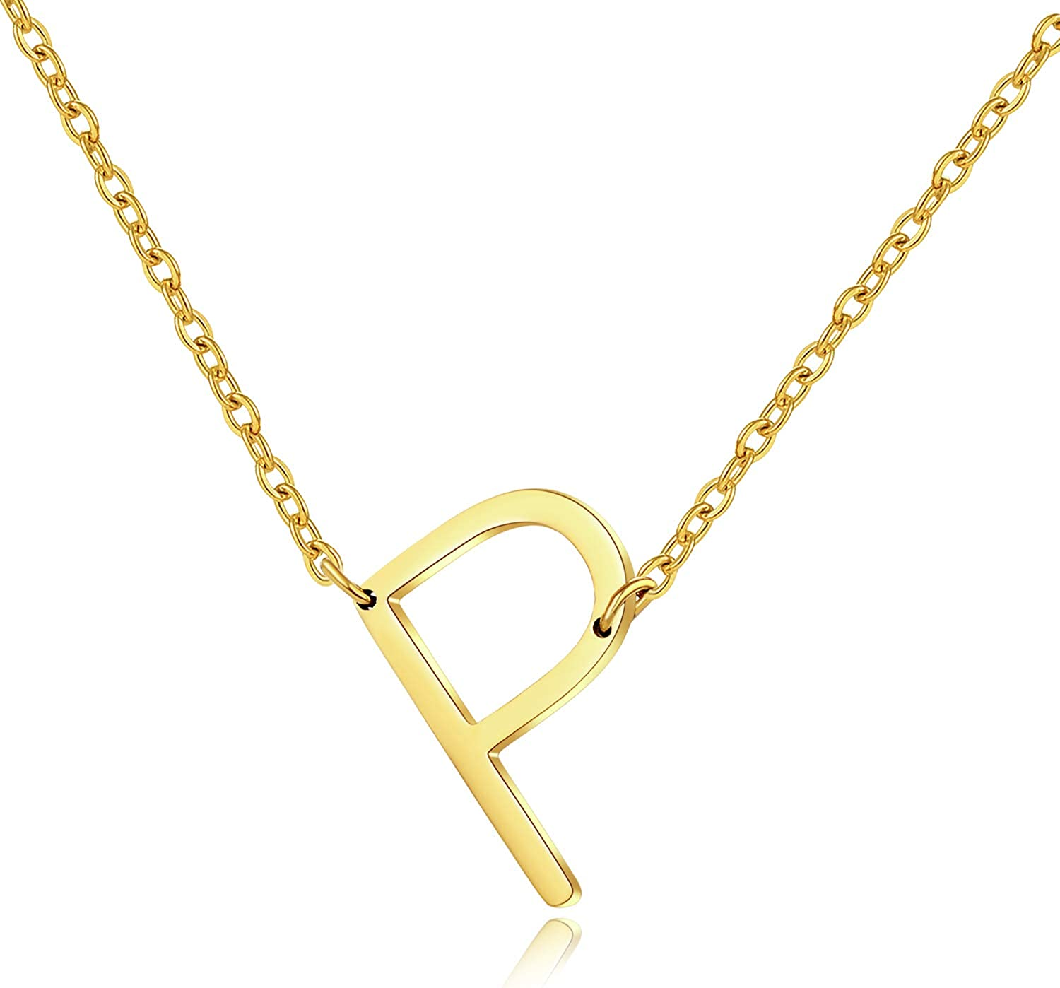 bff for 2 best friend necklace 2 of Rose Gold Initial Necklaces Alphabet Sideways Initial Oversized Letter Necklace 2 bff neckalce
