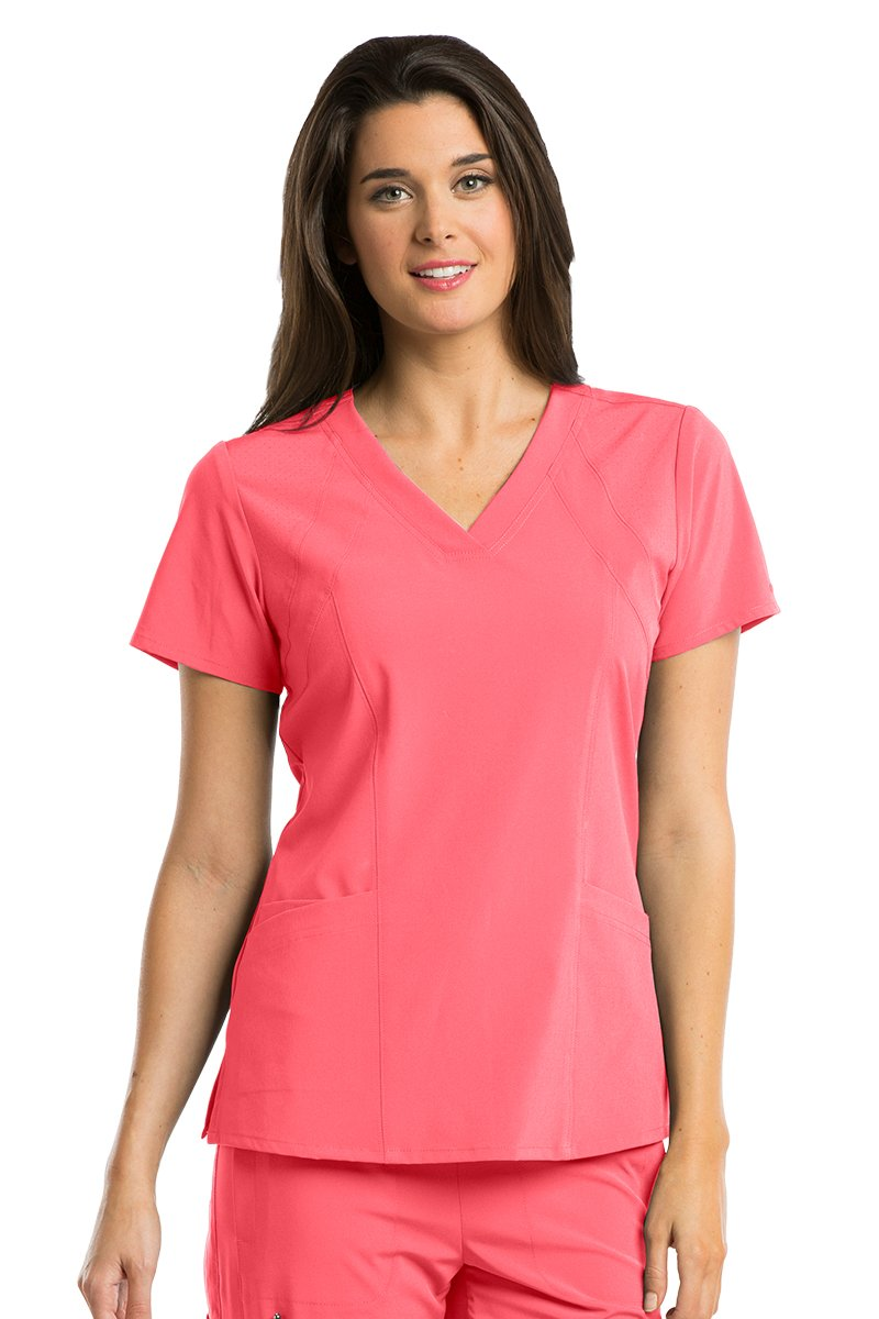 Barco One 5105 Women's V-Neck Top Coral Reef M