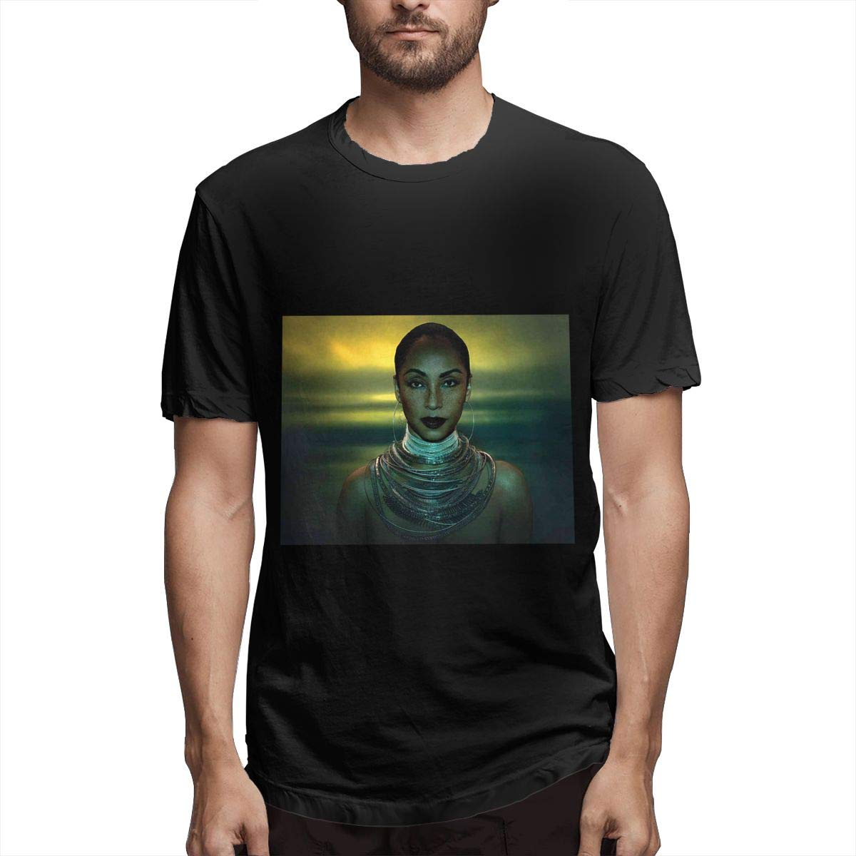 Lihehen Man Sade Solider Of Love Retro Printing Round Neck T Shirts