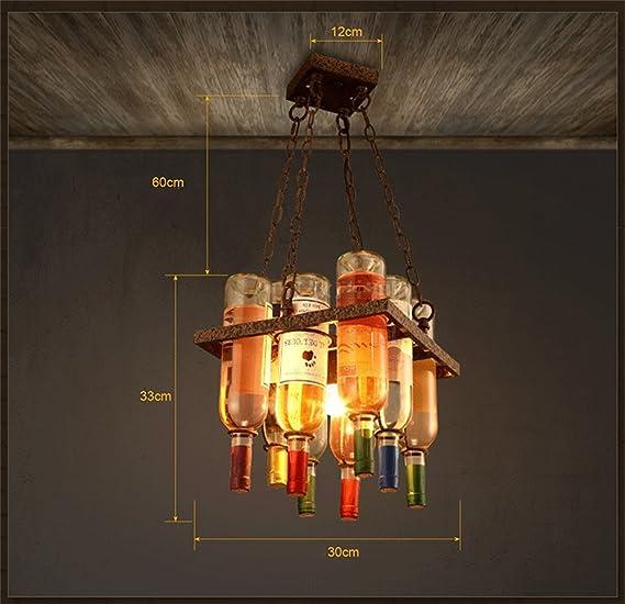 Shopping- Araña restaurante creativo café bar barra de botellas decoradas personalidad salón de diseño araña de Arte: Amazon.es: Iluminación