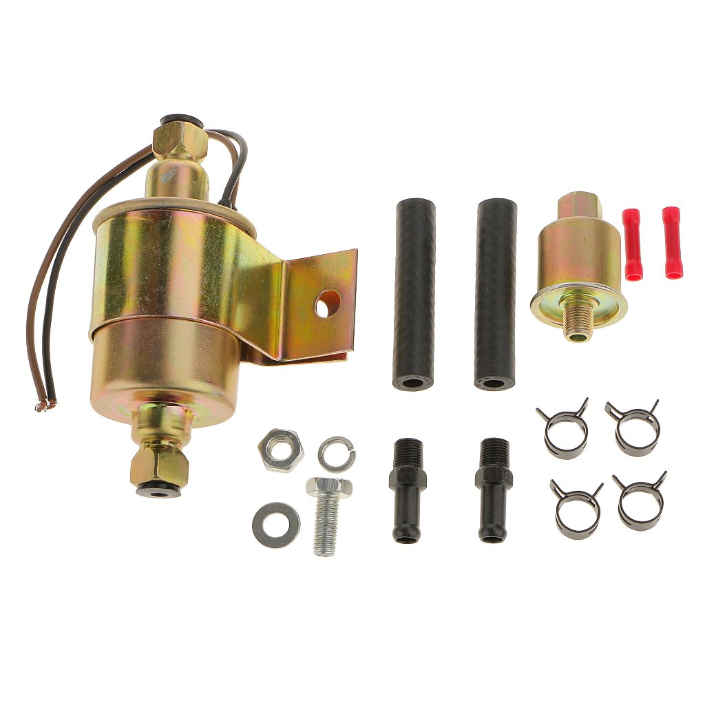 12V Universal Low Pressure Electric Fuel Pump With Installation Kit Generic STK0152002331