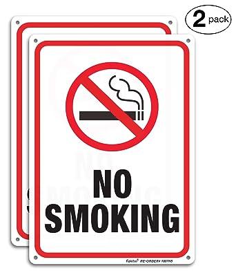 Amazon.com: Señal de no fumar, 2 unidades, no fumar, señal ...