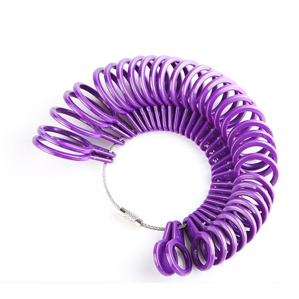 UK anello strumento di misurazione, Lanveni finger Dimensionamento plastica cerchio gioiello gauge kit dispositivo anelli diametri ZHHA1/TT7/AA1847-UK