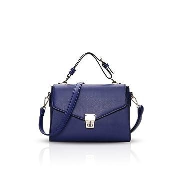 49328753f7ce1 NICOLE DORIS Elegant Freizeit Schön Damen Handtaschen Umhängetasche  Damenhandtaschen Henkeltaschen Schultertaschen Klein Tasche Shopper  Wasserdicht PU Blau