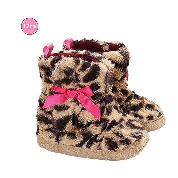 09931a987 TODAYTOP Baby – Botas de Invierno Invierno – Zapatos para bebé niña Guantes  Leopardo Forro Polar