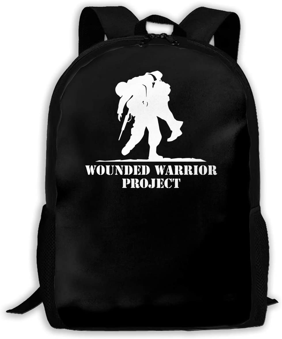United States Wounded Warrior Project Man Woman Fashion Backpack Boy Girl\'s Fashion Canvas 3D Print Handsome Tourism Backpack