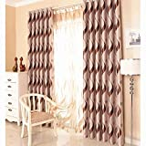 European Style Living Room Curtains Room Darkening Striped Luxury Curtains (54'' W by 84'' L X2, Coffee Stripe)