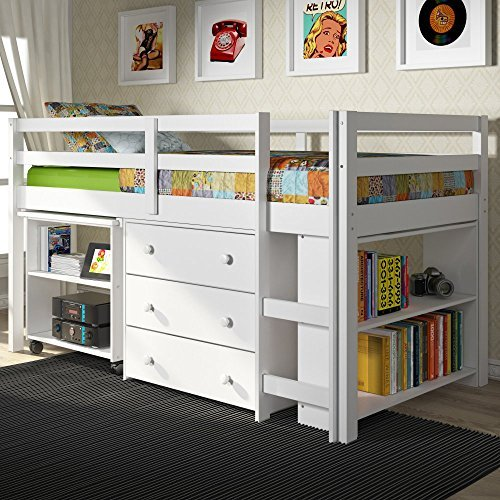Donco Kids Low Study Loft Bed by Donco Kids