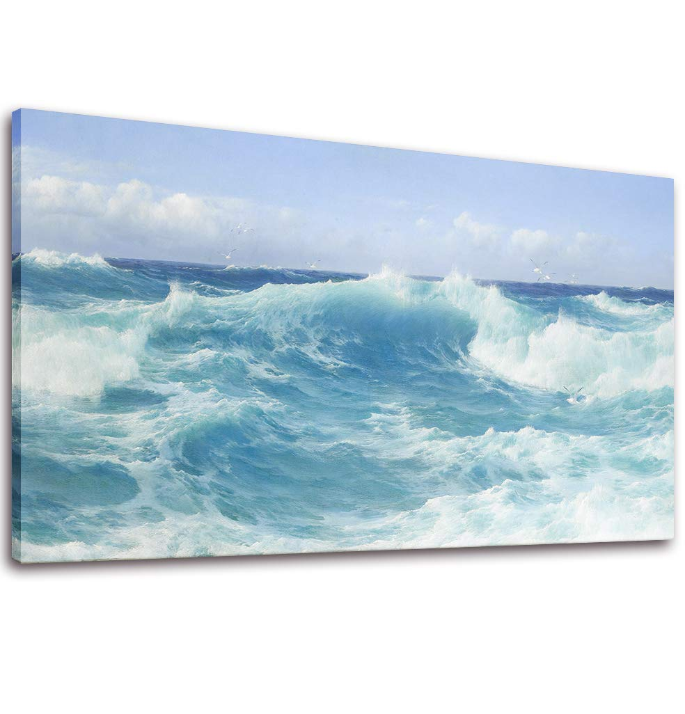 Canvas Wall Art Ocean Sea Wave Painting Print - 20