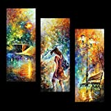 Aura of Autumn (3 Panel Set) is one of Leonid's most popular triptych scenes. The colors pop from this amazing triptych canvas and will brighten any room this piece is hung in. This set is sure to become another Afremov Classic! Each of these Gallery...