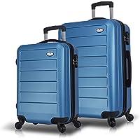 My Valice Ruby Abs 2li Valiz Seti (Kabin ve Orta) Mavi
