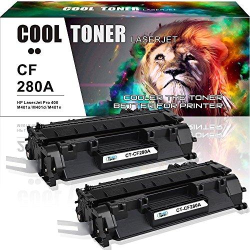 400 Ink - Cool Toner 80A CF280A Toner Compatible for HP 80A CF280A Toner HP Laserjet Pro 400 M401A M401D M401N M401DN M401DNE M401DW HP LaserJet Pro 400 MFP M425DN Printer Toner Cartridge