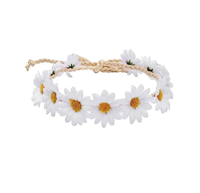 Rainbow Flower crown silk floral Headband pink sunflowers Hippie Boho Daisy hair wreath accessories Made in Michigan USA bridal mothers day