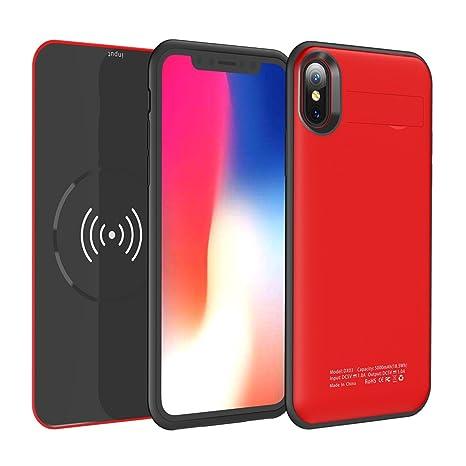 iPhone X Funda Batería, Moonmini 5000mAh Li-polímero ...