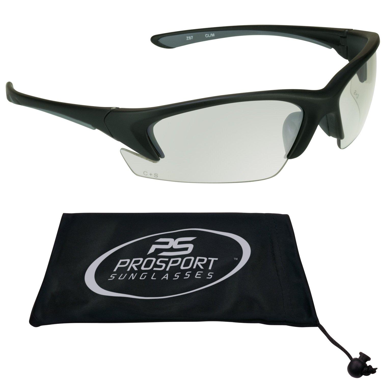 ANSI アンチグレアクリアティント安全メガネ スポーツ活動用 小さな頭のサイズにフィットします。   B00ED2RG0S