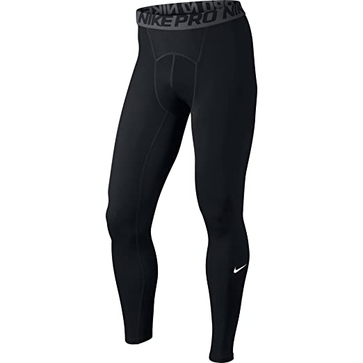21ee9df3dc1a0 NIKE Men's Pro Tights, Black/Dark Grey/White, Small