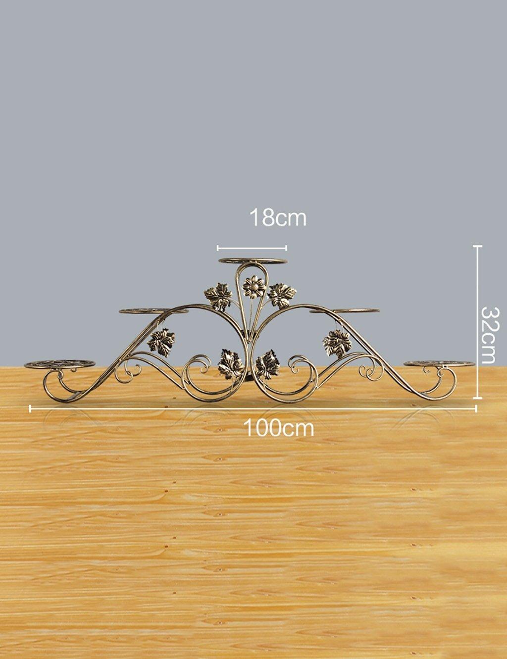 Europäische Art-Eisen-Blumen-Zahnstange Mehrgeschossiges Balkon-Versammlungs-Blumen-Zahnstange-Fußboden-Pflanzer-Regal-einfaches modernes Wohnzimmer-Innenblumen-Zahnstange ( farbe : B , größe : 1 )