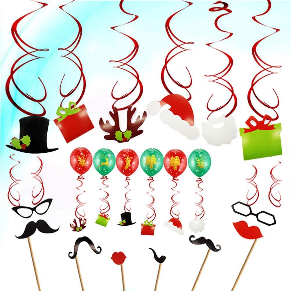 Basteln, Malen & Nähen BESTOYARD Weihnachtslatex Ballon Strudel Dekorations Foto Stand Requisiten Weihnachtsfest Versorgungsmaterialien