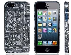 CECT STOCK 3D caja de plástico de cobre del vintage para iPhone 5 (Negro)